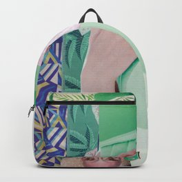 Wanda Goes on Vacation - green modern collage Backpack