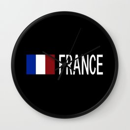 France: French Flag & France Wall Clock