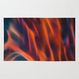 Glowng Orange Fire Rug