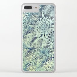 sea of flakes Clear iPhone Case