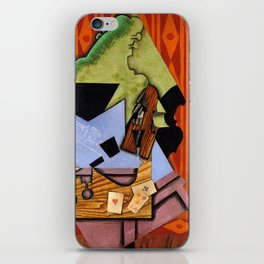 Violin and Playing Cards on a Table iPhone Skin