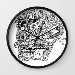 Gamblin Skull Wall Clock