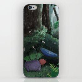 Oddish in the rain iPhone Skin