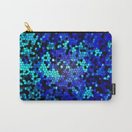 STAINED GLASS BLUES Carry-All Pouch