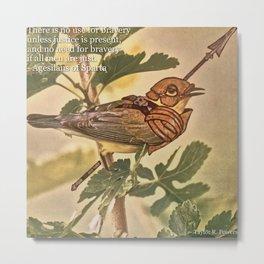 Birds In Armor Metal Print
