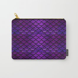 Purple & Blue Mermaid Scales Carry-All Pouch