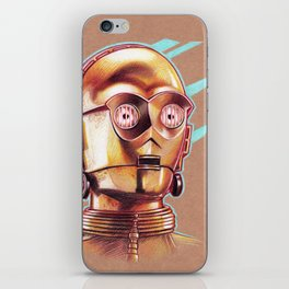 Golden Robot C3PO iPhone Skin