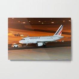 Air France A318 @night Metal Print