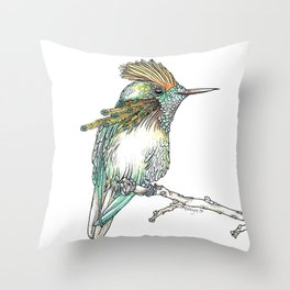 The Tufted Coquette Throw Pillow