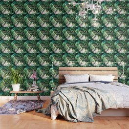 Shimmering Green Abalone Mother of Pearl Wallpaper