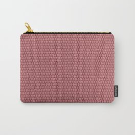 Woven Texture RED Quartz Carry-All Pouch