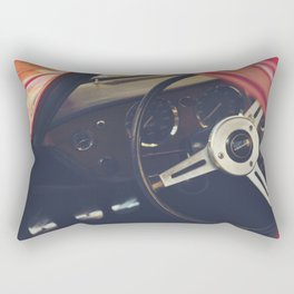 Triumph spitfire, english sports car fine art photography, classy man cave print Rectangular Pillow