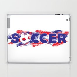 Soccer Red, White and Blue Laptop & iPad Skin