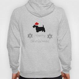 "Scottish Terrier ""Merry Christmas"" Hoody"