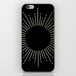 Sunburst Gold Copper Bronze on Black iPhone Skin