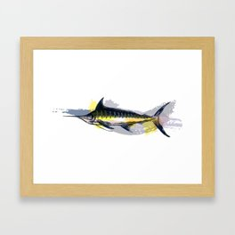 "Blue Marlin ""Blue Bayou"" Framed Art Print"