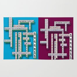 Cross Word Puzzle of Success Rug