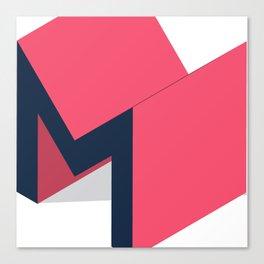 Letters M - geometric Canvas Print