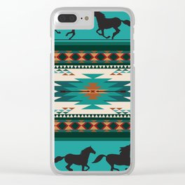 American Native Pattern No. 156 Clear iPhone Case