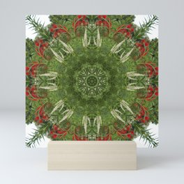 Cardinal flower and Culver's root kaleidoscope Mini Art Print