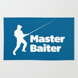 Master Baiter Funny Quote Rug