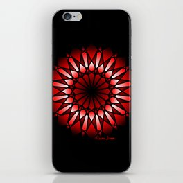 Burnt Umber Wonder Mandala iPhone Skin