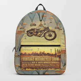 Vintage Motorcycle Show Poster Backpack