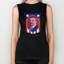 Teddy Roosevelt -- Our President Biker Tank
