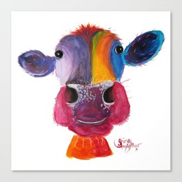 Nosey Cow ' LouLou ' By Shirley MacArthur Canvas Print