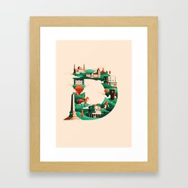 Wanderlust Alphabet – D is for Dublin Framed Art Print