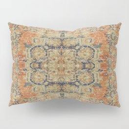 Vintage Woven Coral and Blue Pillow Sham