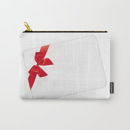 Card with red bow Carry-All Pouch