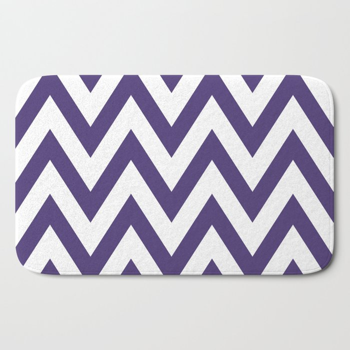 Grape Chevron Bath Mat