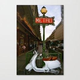 Paris scooter Canvas Print