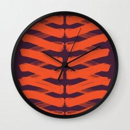 Zigzag red Wall Clock
