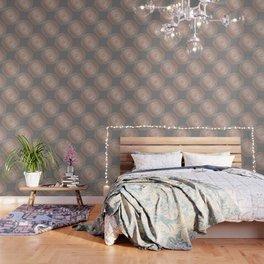 Rose Gold Gray Mandala Wallpaper