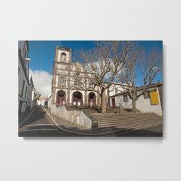 Church in Ponta Delgada Metal Print