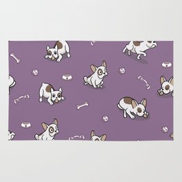 Sweet Frenchie Bulldog Puppies Pattern Rug