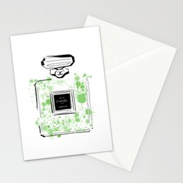 Green Perfume 2 Stationery Cards