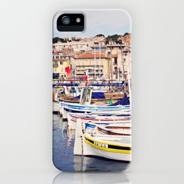 Boats in Cassis Harbor iPhone Case