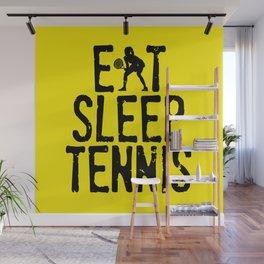 Eat Sleep Tennis Wall Mural
