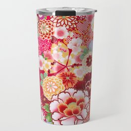 Red Floral Burst Travel Mug