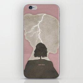 Charlotte Brontë Jane Eyre - Minimalist literary design iPhone Skin