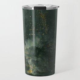 James Abbott McNeill Whistler - Nocturne in Black and Gold Travel Mug