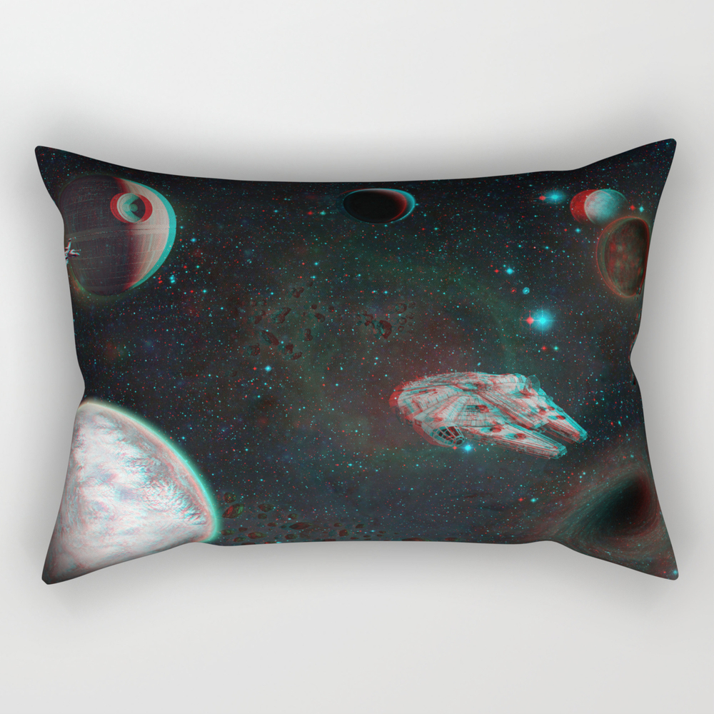 Starwars World 3d Blue+red Anaglyph Rectangular Pillow RPW9128427