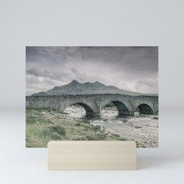 The Bridge and the Cuillin Mini Art Print