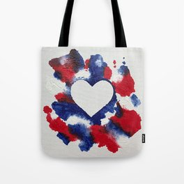 Willa Patriotic Heart Tote Bag