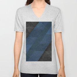 Geometric - Blue Unisex V-Neck