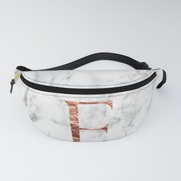 Monogram rose gold marble F Fanny Pack