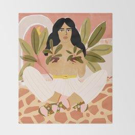 Crazy Plant Lady Throw Blanket